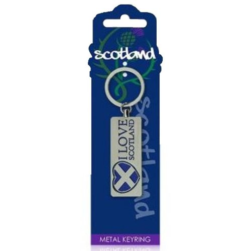 I Love Scotland Keyring Spinning Saltire Flag Heart Metal Scottish Souvenir Gift