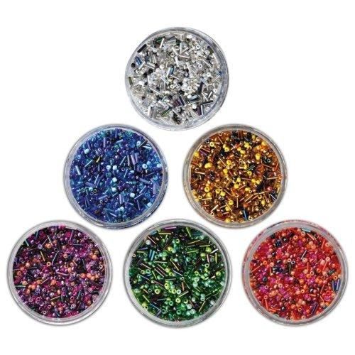 Pbx2470743 - Playbox - Glass Beads (sticks) Red Mix - 190g