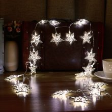 3.3M 20 LED Metal Star String Lights