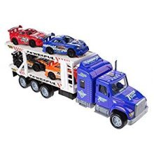 Car Transporter For Kids With 4 Racing Cars