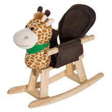 Homcom Giraffe Animal Rocking Ride on Toy Chair for Kids