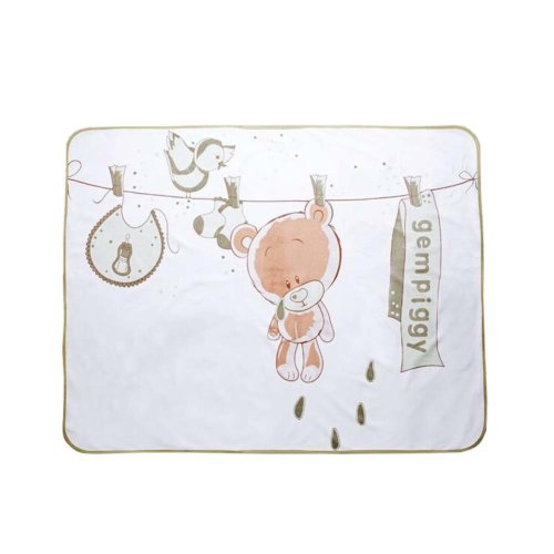 [90*120cm] Cute Bear Waterproof Reusable Pads Baby Crib Sheets, H