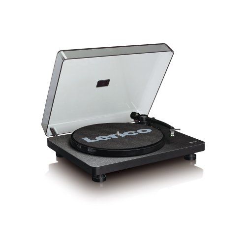 Lenco L-30 Black | 33 & 45 RPM Semi-Automatic Belt Drive USB Turntable for Vinyl with Integrated Stereo Pre-Amplifier and Moving Magnetic Cartridge...