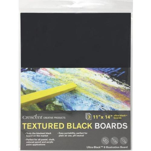 "Crescent Black Art Illustration Board 3/Pkg-11""X14"" Black"
