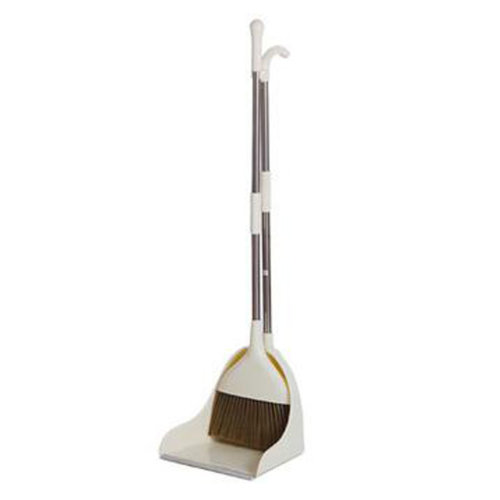 Durable Removable Broom and Dustpan Standing Upright Grips Sweep Set with Long Handle, #B1