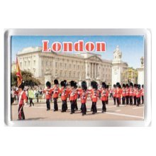 London Buckingham Palace Fridge Magnet Queens Marching Band Guards Royal UK GB