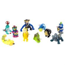 Set of 10 Zoo and Circus Animal Wind-up Toys