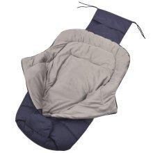 vidaXL Baby Footmuff / Stroller Bunting Bag 90x45 cm Navy