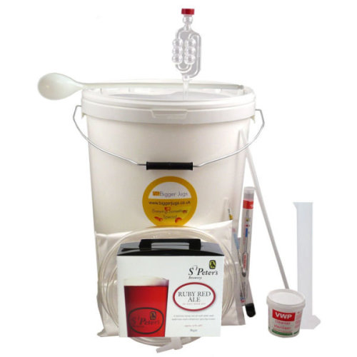 Starter Beer Making Set - St Peters Ruby Red Ale 40 Pint Size with Equipment