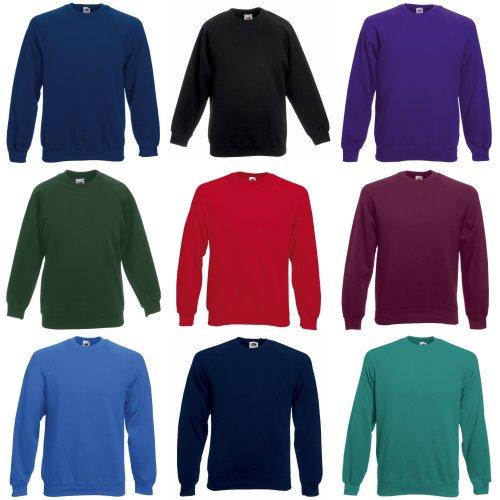 Fruit Of The Loom Childrens/Kids Unisex Raglan Sleeve Sweatshirt