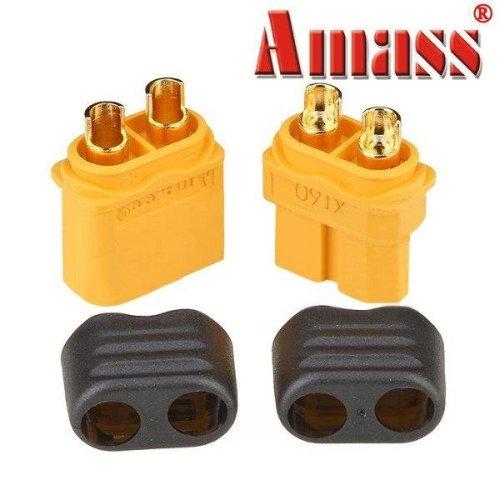 Amass XT60+ Plug Connector With Sheath Housing Male & Female 1 Pair