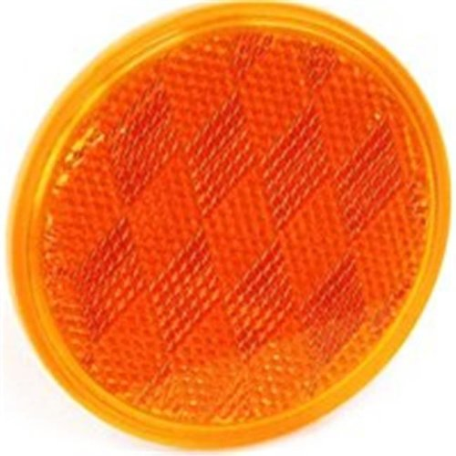 United States Hardware RV-660C 3 in. Amber Reflector