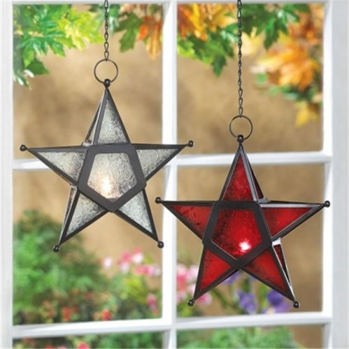 Clear Star Candle Lantern