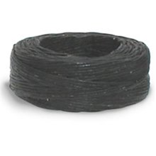 25yd Black Linen Waxed Thread -  waxed thread 25ydblack
