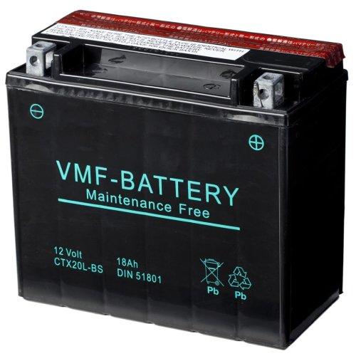 VMF Powersport Liquifix Battery 12 V 18 Ah MF YTX20L-BS Anti-leak Durable