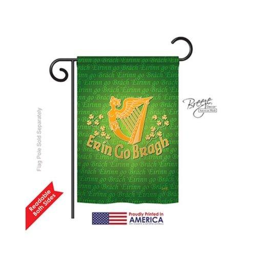 Breeze Decor 52030 St Pats Erin Go Bragh 2-Sided Impression Garden Flag - 13 x 18.5 in.