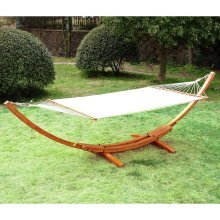 Outsunny Wood Frame Hammock Arc Stand