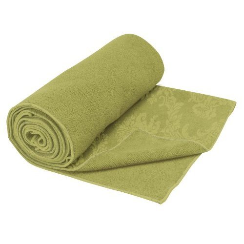 Gaiam Yoga Mat Towel Neo Baroque Green