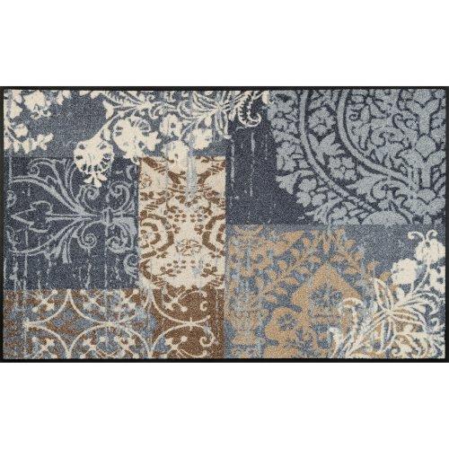 wash+dry Door Mat, Polyester, Grey, 75 x 120 cm