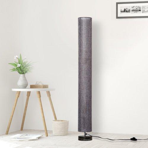 Homcom 120cm Modern Floor Lamp with Fabric Linen Shade