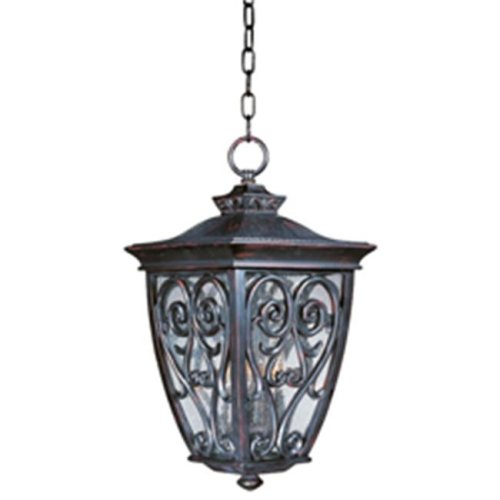 Maxim Lighting 40128CDOB Newbury VX 3-Light Outdoor Hanging Lantern - Oriental Bronze