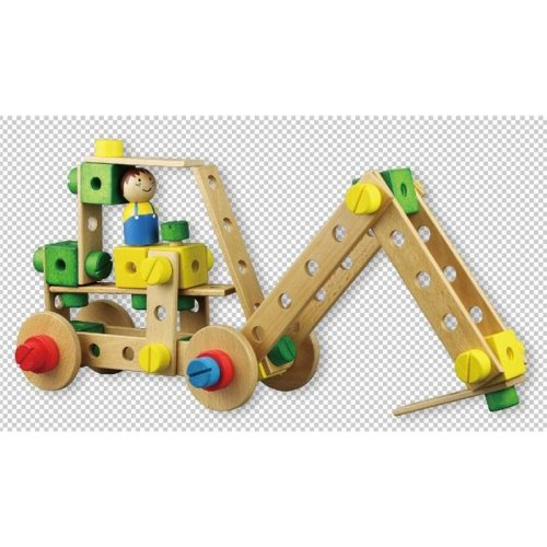 Lelin Wooden Contruction Kit Childrens Kids Model Building Activity Toy