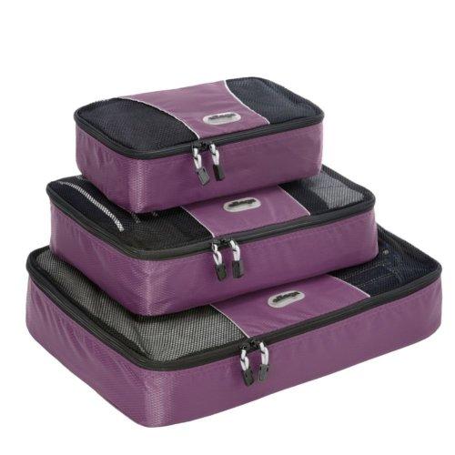 eBags Packing Cubes - 3pc Set (Aubergine)