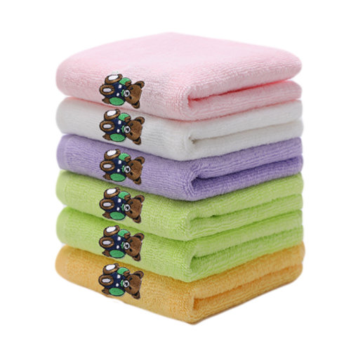 Set of 6 Rectangular Cotton Soft Touch Towels for Baby #4