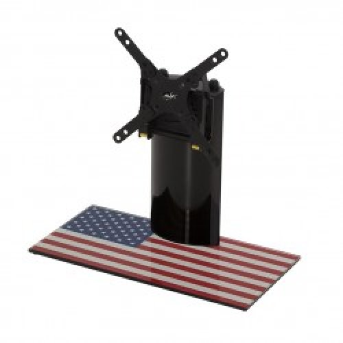 "King Table Top Base Pedestal Stand with Universal Bracket and Stars & Stripes United States of America USA Flag by TV Furniture Direct (12"" - 32"")"