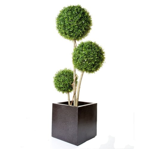 Artificial Boxwood Triple Stemmed Ball Tree