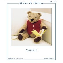 "Knits & Pieces Knitting Pattern - ""Robert"" Teddy Bear - KP - 28"