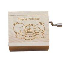 Mini Hand Crank Music Box Wooden Music Box Height Approx 1.5 Inch