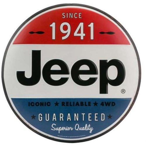 Jeep 90157606-S Since 1941 Tin Button Metal Sign