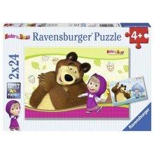 2 Jigsaw Puzzles - Masha and the Bear