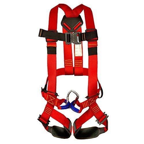 Fusion Climb Warrior Kids Full Body Climbing Rope Course Harness RedBlack