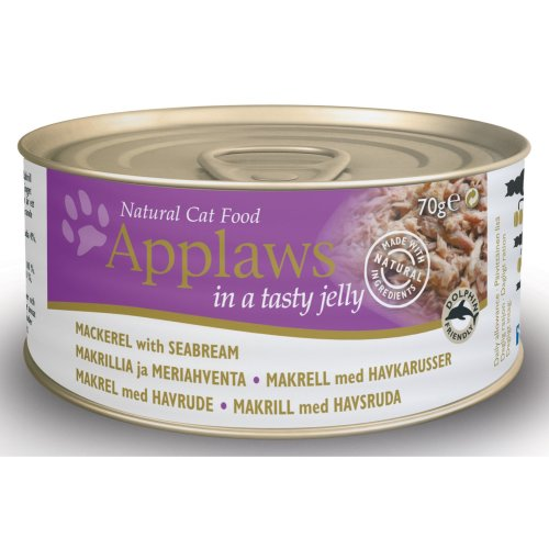 Applaws Cat Can Mackerel With Seabream In Jelly 70g (Pack of 24)
