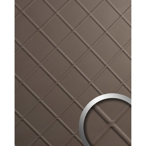 WallFace 19765 Antigrav CORD Dove Tale Wall panel nappa leather look matt brown