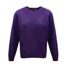 ProQuip Golf Julia Ladies Lambswool Sweater Crew Neck Jumper Purple Large
