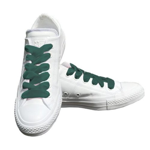 Green Velvet Ribbon Shoelaces Ideal For Converse Vans