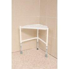 Corner Shower Stool - 3 Leg Height Adjustable Corner Shower Stool