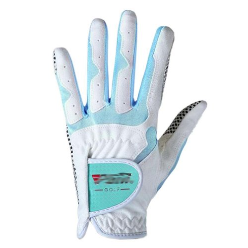 Classic Simple Design Women Golf Gloves Non-slip Sport Gloves(White&Blue) #19
