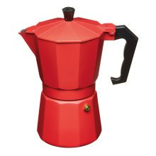 290ml Red Le'xpress Italian Style Six Cup Espresso Coffee Maker - Lexpress 290 -  lexpress 290 ml espresso maker red italian style coffee
