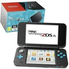 New Nintendo 2DS XL Handheld Console - Black and Turquoise - Nintendo 3DS
