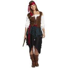 Women's Pirate Fancy Dress Costume | Women's Caribbean Pirate Costume