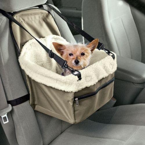 Dog Travel Booster Seat | Adjustable Pet Car Seat