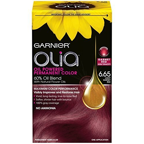 Garnier Olia Oil Powered Permanent Hair Color 6 65 Light Garnet Red