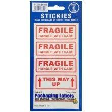 Fragile Labels -  fragile way up vinyl castle outdoor sticker pack 9 promotions grade v580 labels