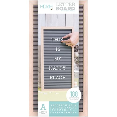 """Dcwv Framed Letterboard 10""""X20""""-Natural W/Gray Insert"""