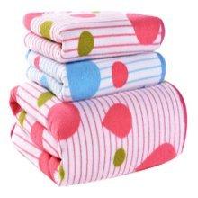 Strong Absorbent Drop Pattern Bath Towels Linen Sets(Multicolor)