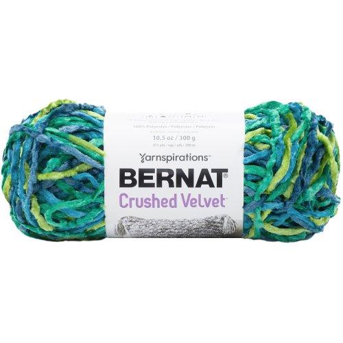 Bernat Crushed Velvet Yarn-Tropical Green